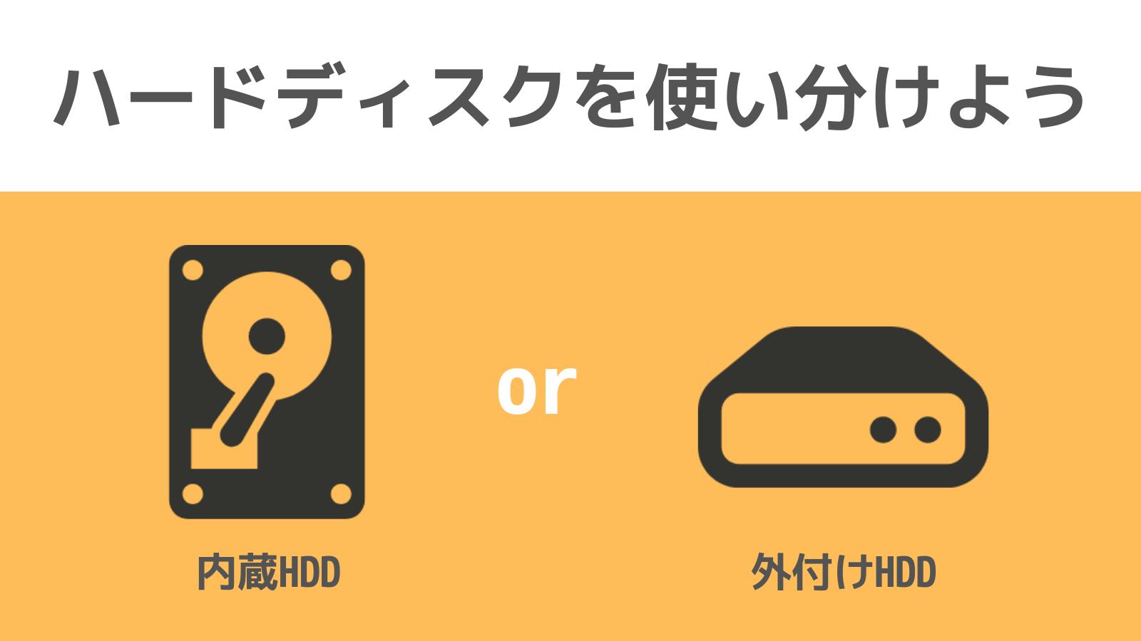 ハードディスクの使い分け